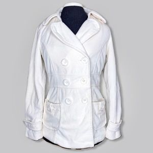 Forever 21 Cream Soft Pea Coat